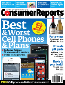 Consumer Reports Cell Phone Plan Review Comparison